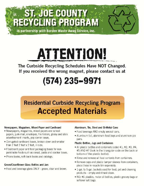 Flyer about what you can do if you need extra recycling