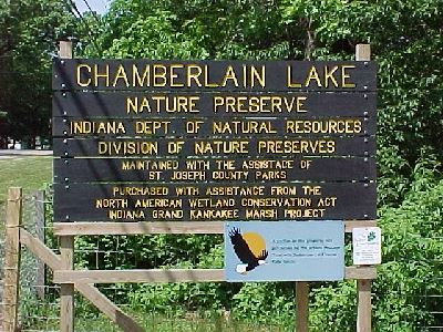 Chamberlain Lake Sign