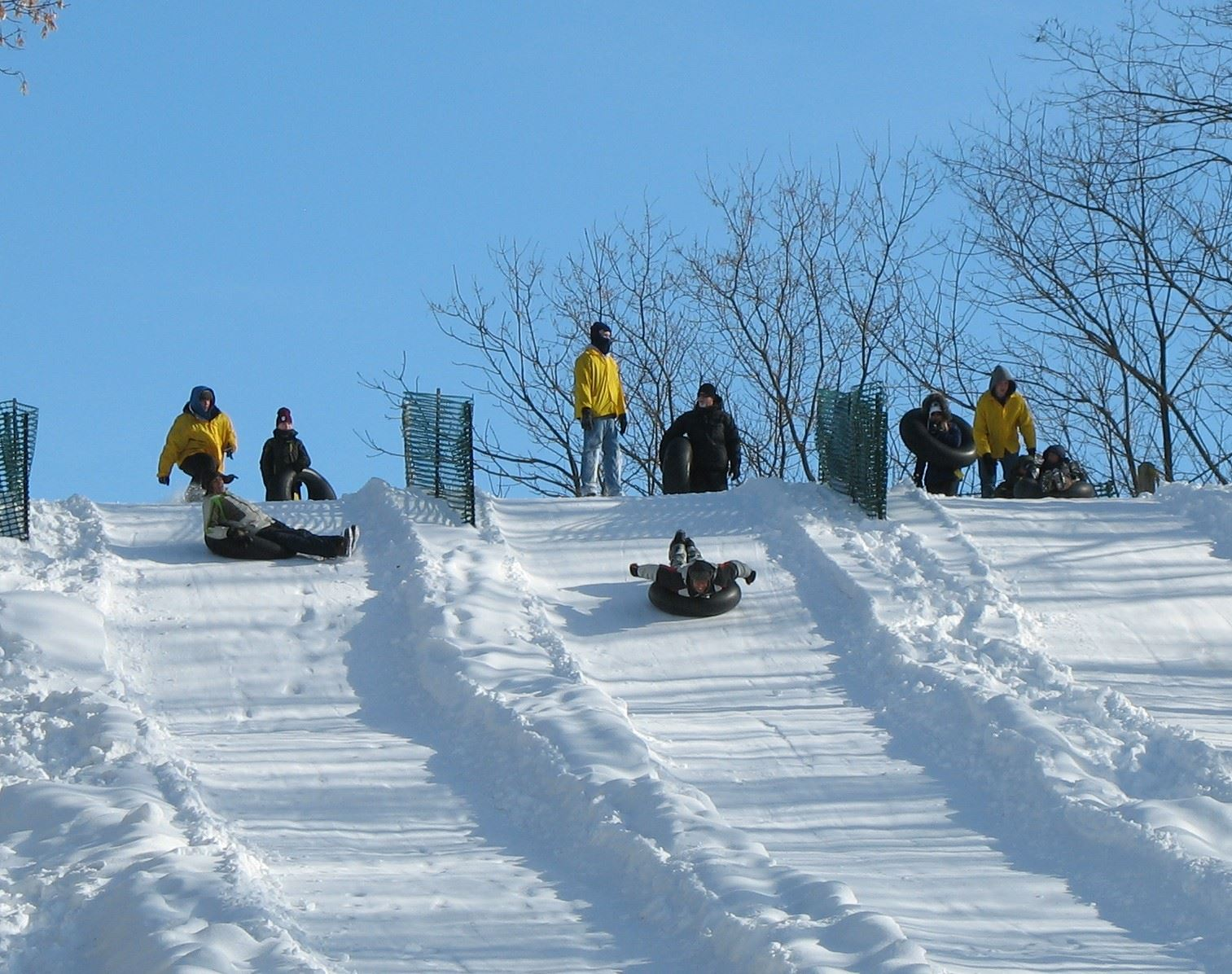 tubing staff on hill